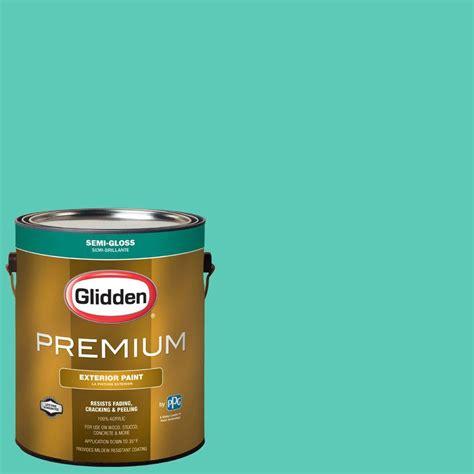 glidden premium 1 gal hdgb02 thai teal semi gloss exterior paint hdgb02px 01s the home