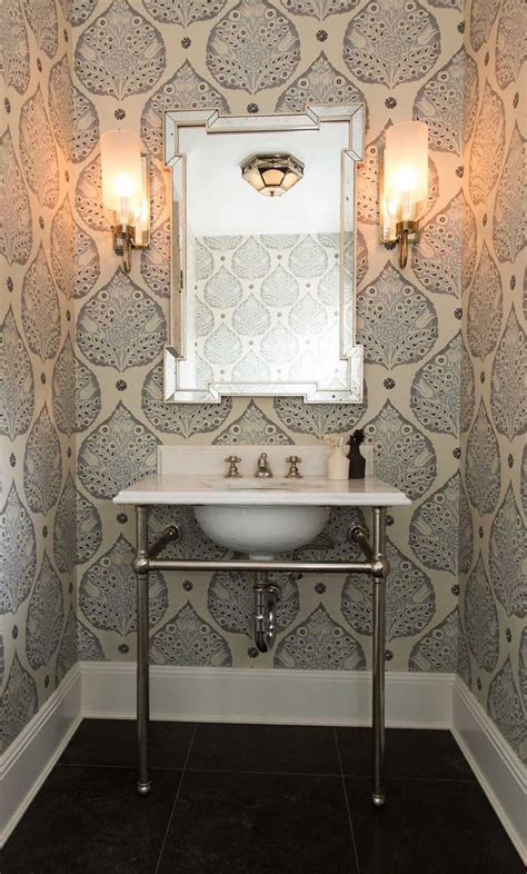 wallpaper for small bathroom 30 gorgeous wallpapered bathrooms