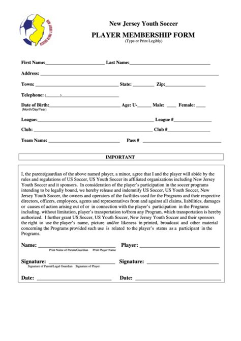 19 Soccer Registration Form Templates Free To Download In Pdf Soccer Player Registration Form Template