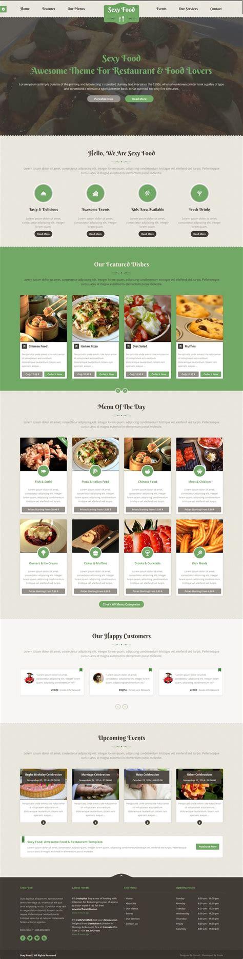 wordpress restaurant layout sexy food food restaurant wordpress theme web design