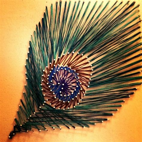 String Peacock Pattern - pin by on to do