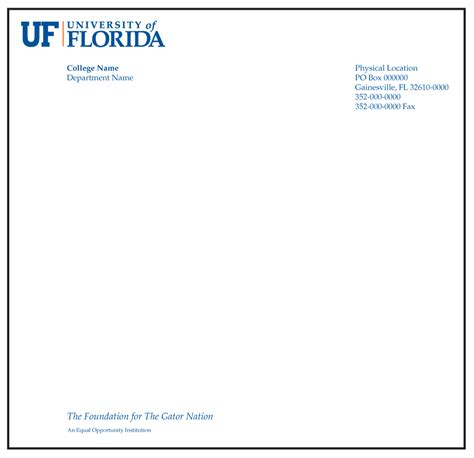 Letterhead Of College Of Florida Stationery Insty Prints Marketing