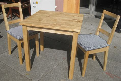 butcher block table and chairs uhuru furniture collectibles sold birch butcher block