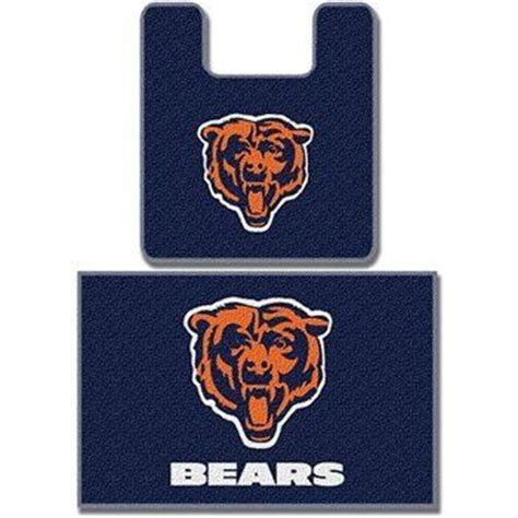 chicago bears bathroom set nfl chicago bears bathroom mat rug set nfl chicago bears