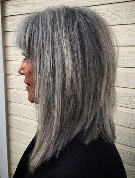 shag cuts for grey hair 712 best beauty in gray white or silver images on pinterest