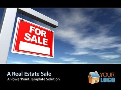 real estate powerpoint template presentationgo com real estate sign a powerpoint template from