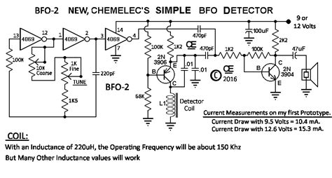 bfo metal detector circuit diagram new bfo metal detector