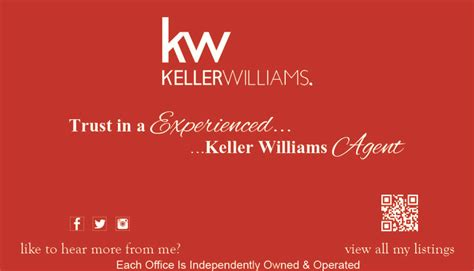 keller williams business cards keller williams business