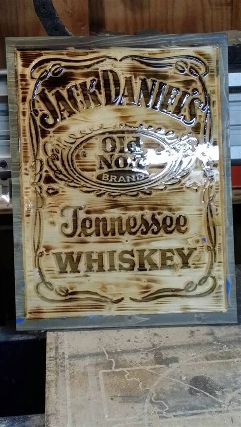 Jack Daniels Home Decor by Jack Daniels Man Cave Carved Solid Wooden Wall Art Home Decor