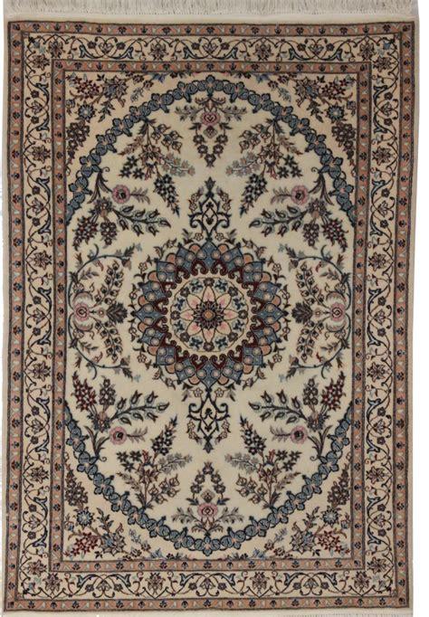 3 X 5 Wool Rug by 3 X 5 Silk Wool Nain Rug 14282