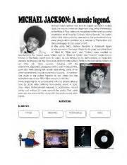 michael jackson brief biography english teaching worksheets michael jackson