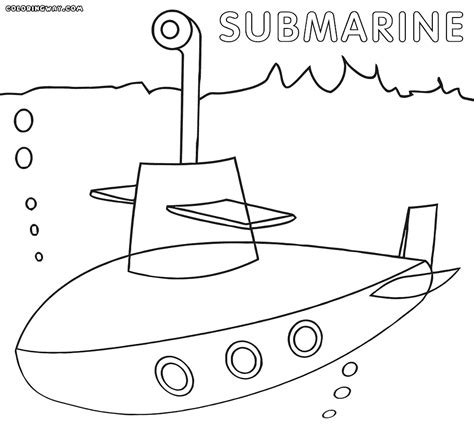 submarine coloring download submarine coloring