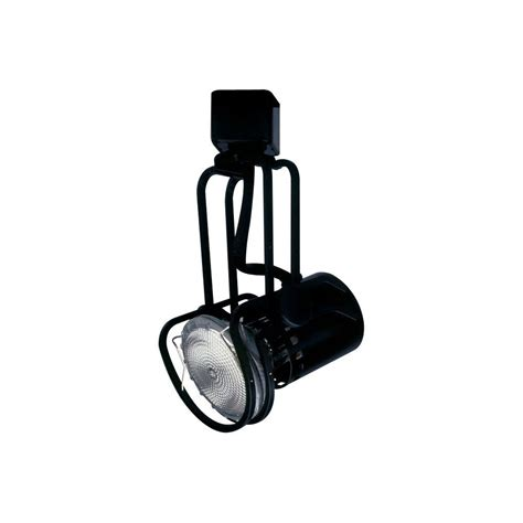 Black Track Lighting Fixtures Plc Lighting 1 Light Black Track Light Fixture Cli Hdtr111bk The Home Depot