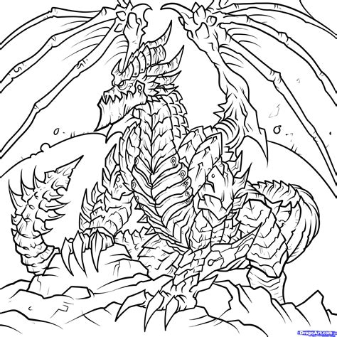 how to draw deathwing world of warcraft deathwing step