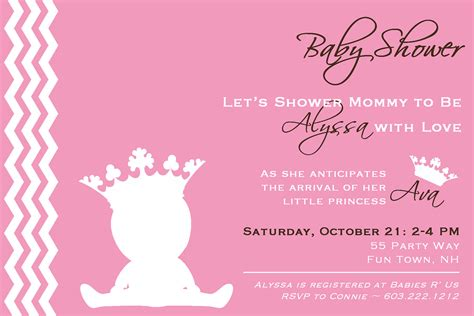 baby shower invitation cards templates princess baby shower invitation template invitation card