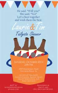 items similar to tailgate couples shower invitation on etsy