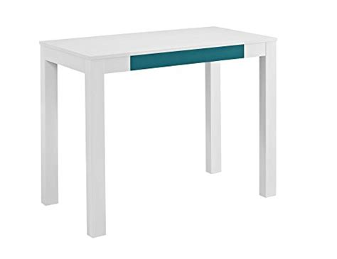 Altra Parsons Desk With Drawer White Teal Noticebreeze Parsons Desk With Drawers White