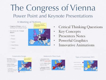 chapter 7 section 5 the congress of vienna the congress of vienna powerpoint keynote