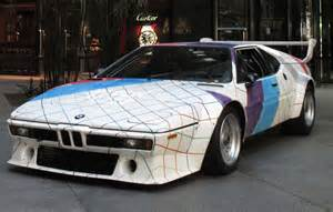 bmw m1 car by frank stella headed for the auction block