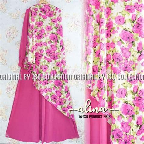 Gamis Syari Motif Kupu Setelan Gamis Pesta Muslim Maxmara Maxi baju muslim setelan alina syari gamis remaja modern cantik