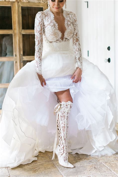 wedding boots for ethereal florida wedding house of elliot real