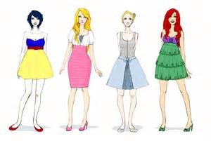 Disney princesses modern fashion disney princess modern disney