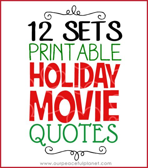 printable holiday quotes christmas eve traditions movie munchie message
