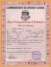 6  school leaving certificate sample   musicre sumed