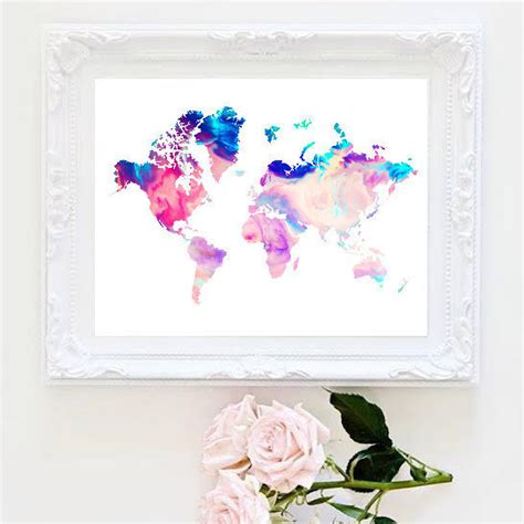 map world marble printable marble world map painting map print room