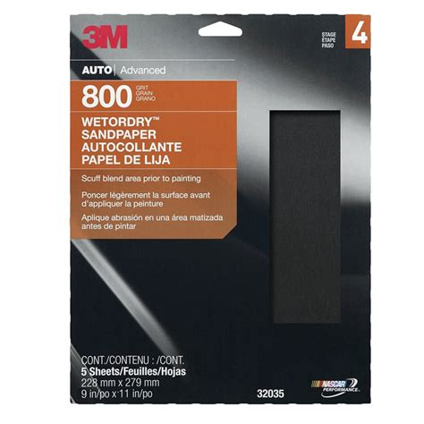 800 Grit Sandpaper by 3m 32035 800 Grit Or Sandpaper