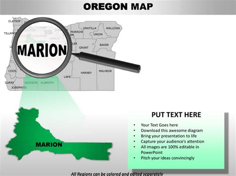 usa oregon state powerpoint county editable ppt maps and
