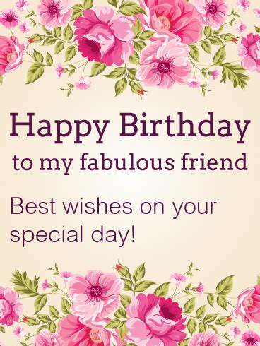 Happy Birthday To My Best Friend Card Best Wishes On Your Special Day Happy Birthday Card For