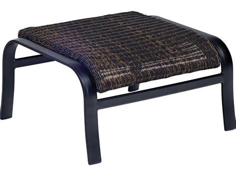 woven ottoman round woodard belden woven round weave wicker side ottoman 5j0486