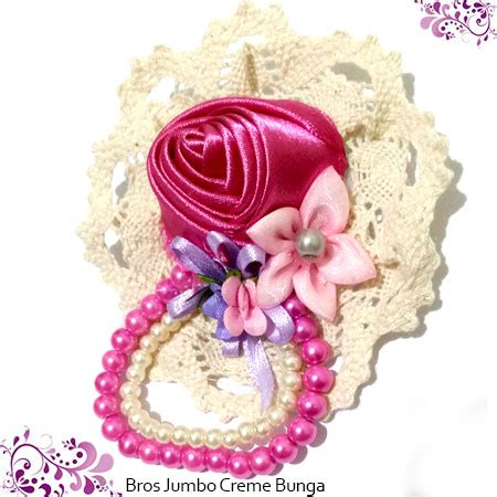 Jumbo Bunga tokoaksesorisku bros jumbo creme bunga pink rp 12 900