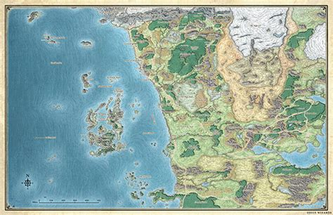 map of faerun map of faer 252 n dungeons dragons