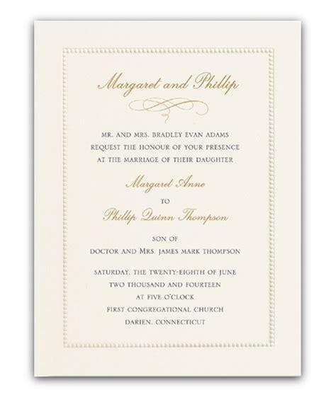wedding invitations dublin wedding invitations ireland wedding stationery classic ecru beaded border from william arthur
