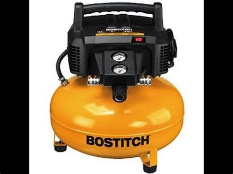 review bostitch  gallon pancake air compressor youtube