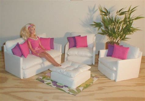 pink living room set barbie doll furniture living room set white w pink purple