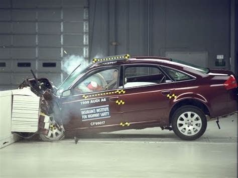 accident recorder 1999 audi a4 navigation system 1999 audi a6 moderate overlap iihs crash test youtube