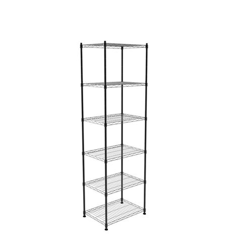 home depot hdx shelves hdx 6 shelf storage unit in black sl thdus 006b the home