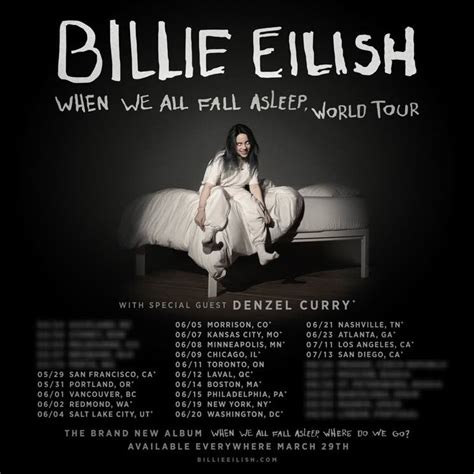 billie eilish vancouver billie eilish maps out north american quot when we all fall