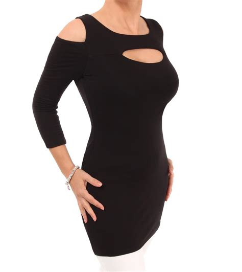 Beat Cut Out Top black cut out tunic top