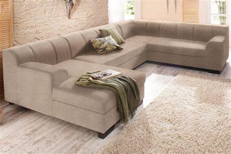 sofa mit ottomane und bettfunktion home affaire wohnlandschaft 187 falk 171 mit federkern und