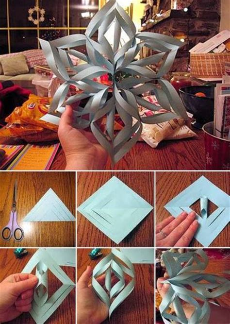 3d Snowflakes Paper Craft - easy to make 3d snowflake using paper find