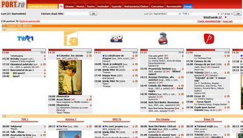 program tv port program tv site uri unde afli ce ruleaza pe micul ecran