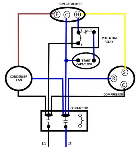 ac run capacitor wiring diagram free wiring