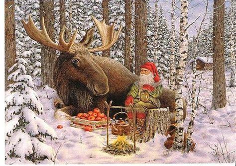 christmas moose  jan bergerlind  flickr christmas pinterest cards   christmas