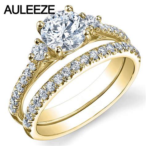 stone lab grown diamond ring ct moissanites bridal set