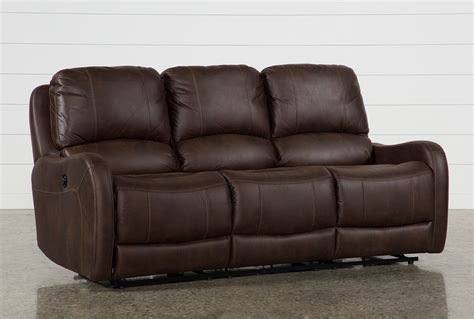 Recliner Sofas by Davor Brown Power Reclining Sofa Living Spaces