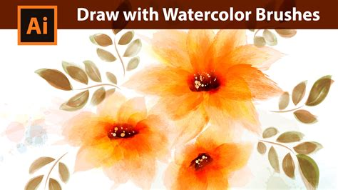 tutorial watercolor brushes rar adobe illustrator tutorial how to draw with watercolor